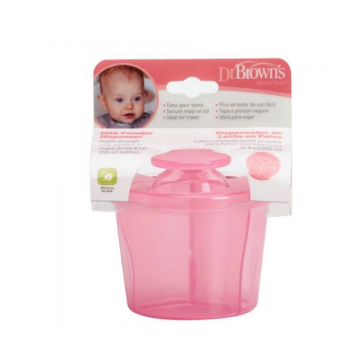 Dr. Browns - Dispensador de leche en polvo -rosa