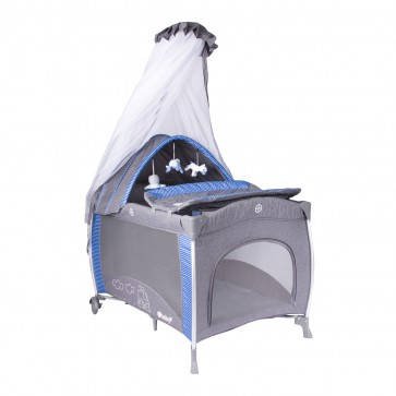 ebaby - Cuna corral pack and play Noa azul