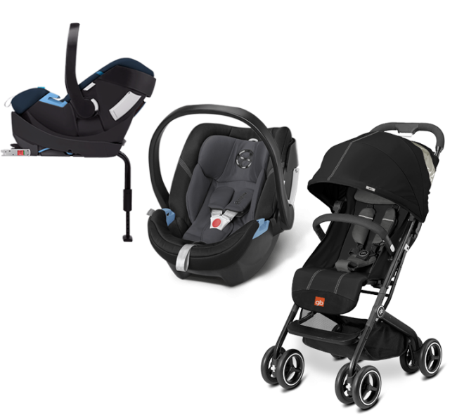 eb54edac4 GB Cybex - Sistema de Viaje Qbit+ Monument Black Con Base 2 fix Con SA  Phantom Grey