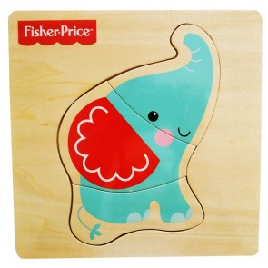Fisher Price - Rompecabeza de animalito elefante