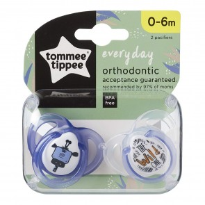 Tommee Tippee Chupones Every Day 0-6M morado x 2 unidades