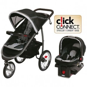 Graco - Coche De Paseo y Silla Travel system Fast Action Fold Jogger Gotham