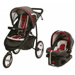 Graco - Coche De Paseo y Silla Travel system Fast Action jogger Chilli Red