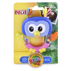 Nuby - Rattle Pals Buho 6m+