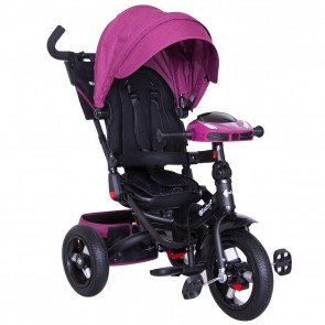 Ebaby - Triciclo reclinable Chester rosado