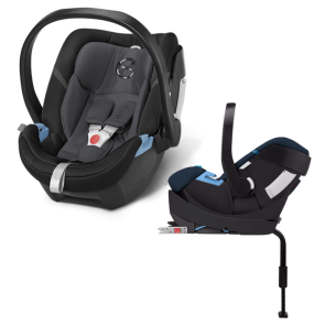 Cybex - Sistema de Viaje Aton 4 Phantom Grey Con Base 2 Fix