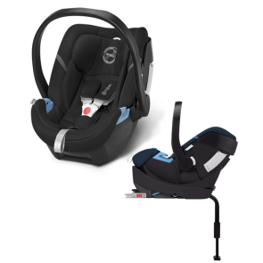 Cybex - Cybex Silla de Auto Aton 4 Happy Black Con Base 2 Fix
