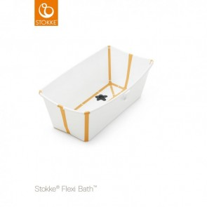 Stokke - Bañera flexible blaco/amarillo