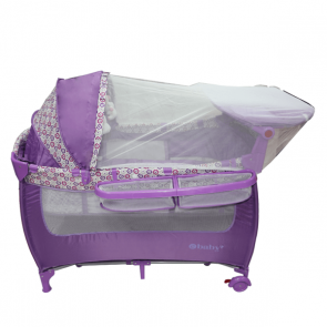 ebaby - Cuna corral Moon Night morado