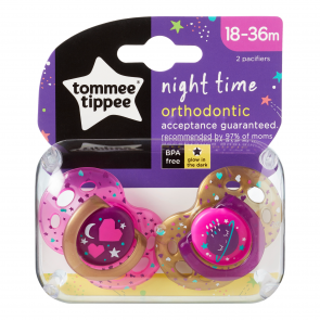 Chupones Night Time 18-36 m rosado x 2 unidades - Tommee Tippee
