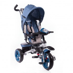 Ebaby - Triciclo reclinable Makz New azul