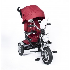 Ebaby - Triciclo reclinable Chopper rojo