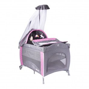 ebaby - Cuna corral pack and play Noa rosado