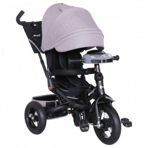 Ebaby - Triciclo reclinable Chester gris
