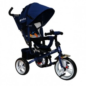 Ebaby - Triciclo reclinable Turk azul