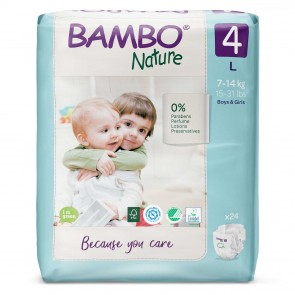 Pañal talla 4 (G) pack por 24 unid. - BAMBO NATURE