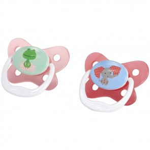 Dr.Browns - Set de 2 chupones PreVent 6-12 M+ rosado