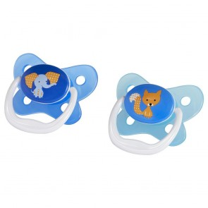 Dr.Browns - Set de 2 chupones PreVent 6-12 M+ azul