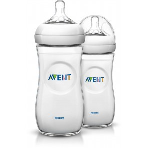 Philips Avent - pack de 2 Biberón 2.0  para Bebés Natural - 11oz / 330ml