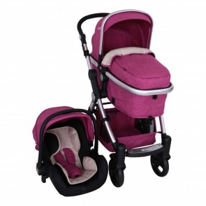 ebaby - Coche travel system Tainy Deluxe rosado