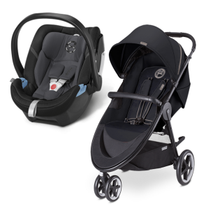 Cybex - Sistema de Viaje Agis M-3 Air Moon Dust con SA Aton Phantom Grey